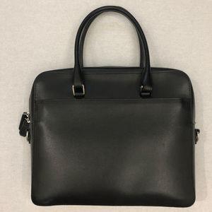 Royce Black Saffiano Leather Briefcase